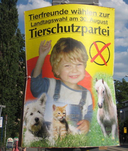 Political poster in Dresden